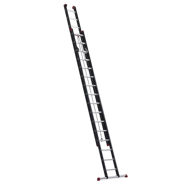 Billede af Altrex 2-delad hisstege, Proff Mounter repdragen. 8,80 m/2x18 pinnar. Med stegbreddare