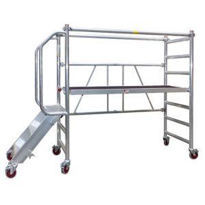 Jumbo Foldestillads m/trappe & gelænder