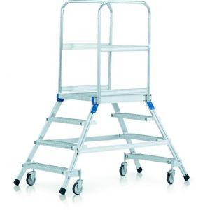 Zarges Mobil Arbejdsplatform Dobbelt M/Stålgitterristtrin