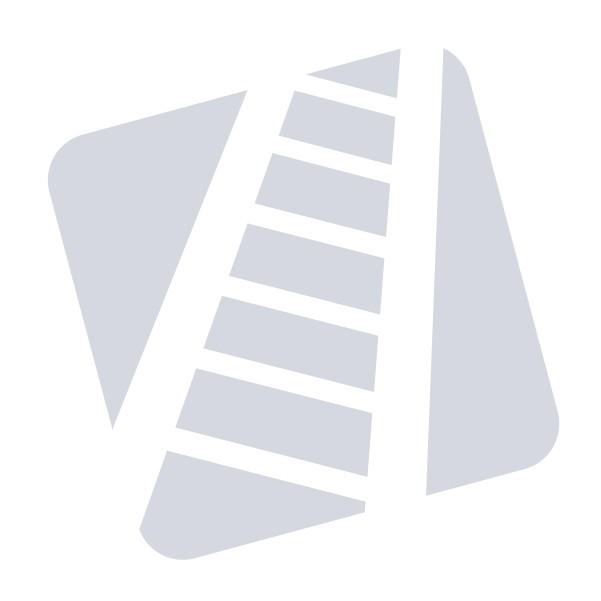 Dolle Lyon Kvartsvingstrappe m/vandret stålrør-gelænder (65cm bred)