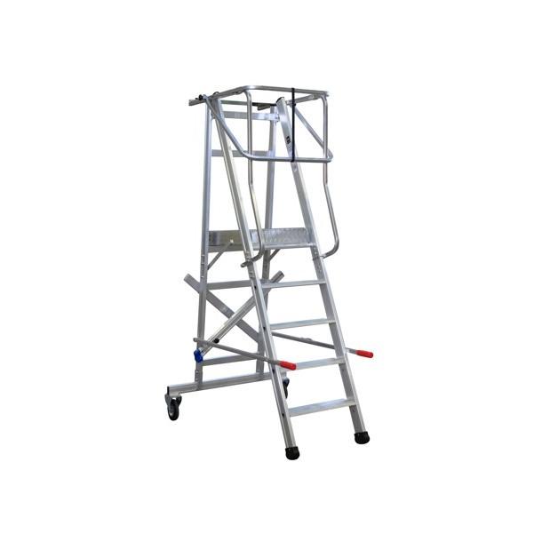 Image of   Arbetsplattform med skyddsräcke och hjul-1,00